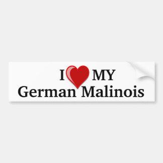 Eu amo (coração) meu pára-choque alemão do cão de  adesivo para carro