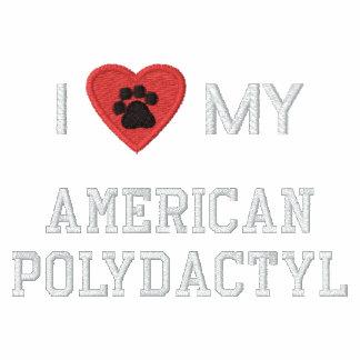 Eu amo (coração) meu Pawprint Polydactyl americano Jaqueta