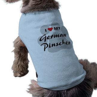 Eu amo coração meu Pinscher alemão Roupas Para Pets