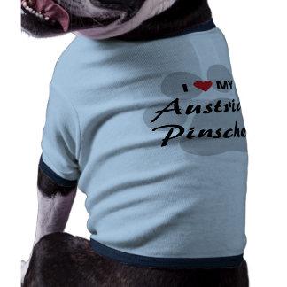 Eu amo coração meu Pinscher austríaco Camisas Para Caes