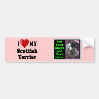 Eu amo (coração) meus presentes escoceses do cão d adesivo para carro