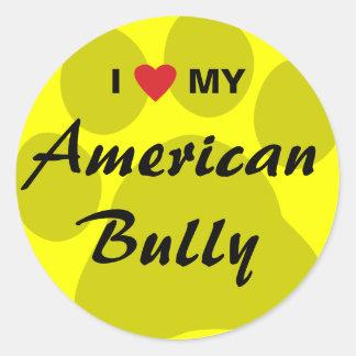 Eu amo (coração) minha intimidação americana adesivo