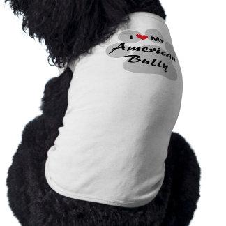 Eu amo (coração) minha intimidação americana camisa sem mangas para cachorro