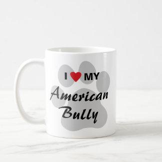 Eu amo (coração) minha intimidação americana caneca