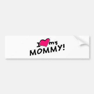Eu amo (coração) minhas mamães! adesivo para carro
