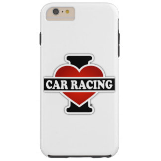 Eu amo corridas de carros capa tough para iPhone 6 plus