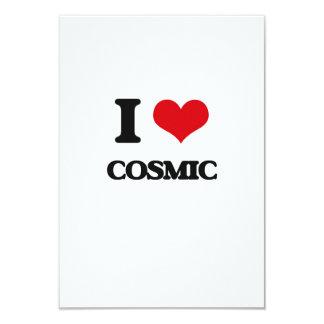 Eu amo cósmico convites personalizado