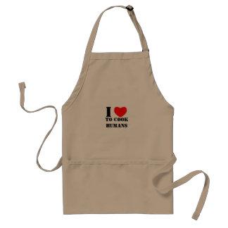 Eu amo cozinhar seres humanos imprimo no avental