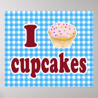 Eu amo cupcakes poster