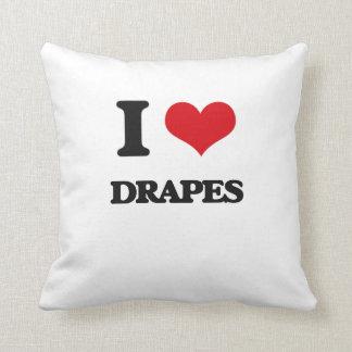 Eu amo drapejo travesseiro de decoração