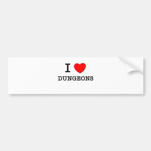 Eu amo Dungeon Adesivo