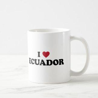 Eu amo Equador Caneca De Café