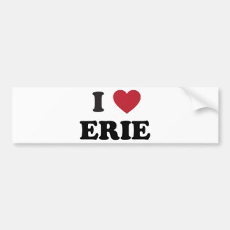 Eu amo Erie Pensilvânia Adesivo Para Carro