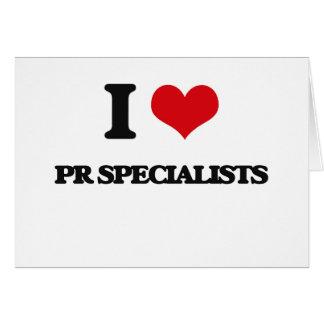 Eu amo especialistas do fotorreceptor cartao