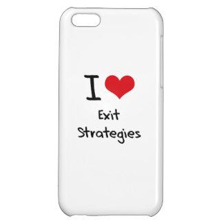 Eu amo estratégias de saída capas para iphone 5C