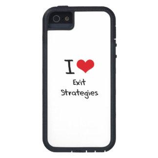 Eu amo estratégias de saída capas de iPhone 5 Case-Mate