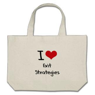 Eu amo estratégias de saída bolsa para compra
