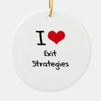 Eu amo estratégias de saída ornamento