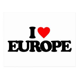 EU AMO EUROPA CARTÕES POSTAIS