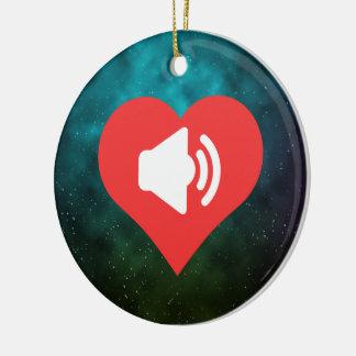 Eu amo fazer o design dos anúncios ornamento de cerâmica redondo