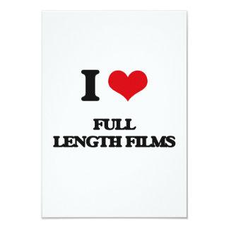 Eu amo filmes completos do comprimento convite 8.89 x 12.7cm