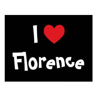 Eu amo Florença Cartão Postal