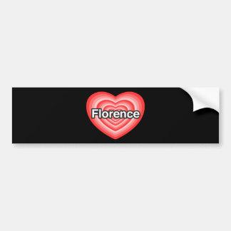Eu amo Florença. Eu te amo Florença. Coração Adesivo Para Carro