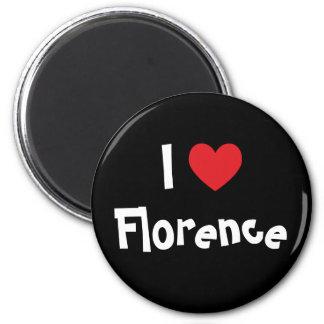 Eu amo Florença Ímã Redondo 5.08cm