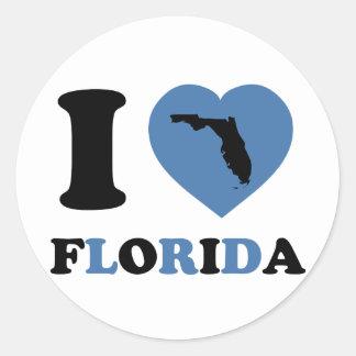 Eu amo Florida Adesivo