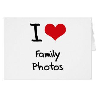 Eu amo fotos de família cartão comemorativo