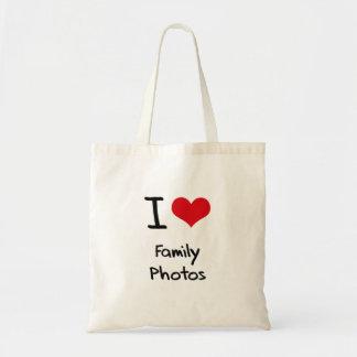 Eu amo fotos de família bolsa para compra
