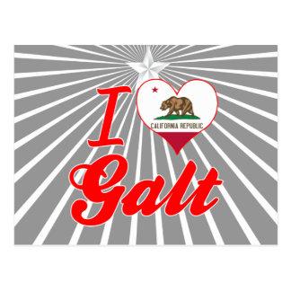 Eu amo Galt, Califórnia Cartão Postal