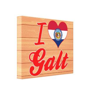 Eu amo Galt, Missouri Impressão De Canvas Envolvida