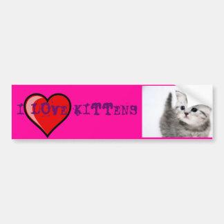 eu amo gatinhos adesivo para carro