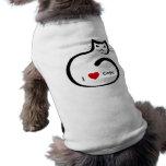 Eu amo gatos! camisa para caes