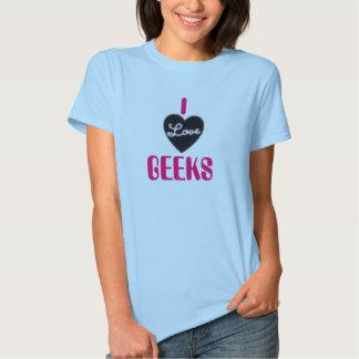 Eu amo geeks t-shirt