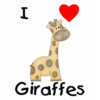 Eu amo girafas (2) escultura de foto