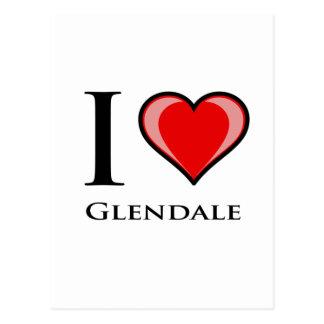 Eu amo Glendale Cartão Postal