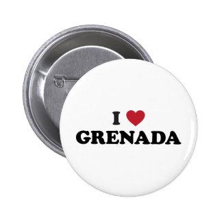Eu amo Grenada Bóton Redondo 5.08cm