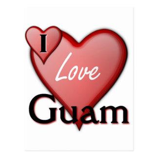 Eu amo Guam Cartão Postal
