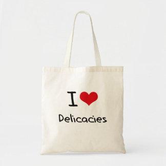 Eu amo guloseimas bolsas para compras