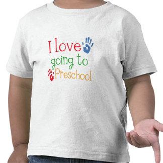 Eu amo ir ao pré-escolar camiseta