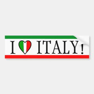 Eu amo Italia! Bandeira do coração Adesivo Para Carro