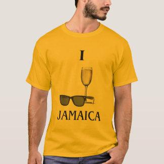 Eu amo Jamaica Camisetas