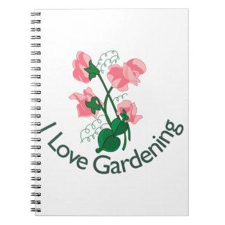 Eu amo jardinar caderno