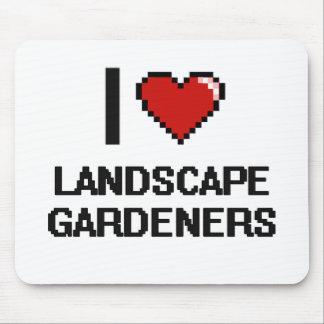 Eu amo jardineiro de paisagem mouse pad