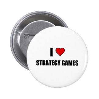 Eu amo jogos da estratégia botons
