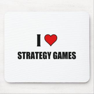 Eu amo jogos da estratégia mousepad