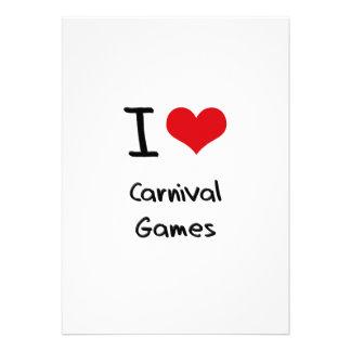 Eu amo jogos do carnaval convite personalizado
