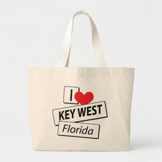Eu amo Key West Florida Bolsa De Lona